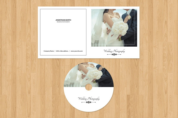Photographer CD Label & Cover Template