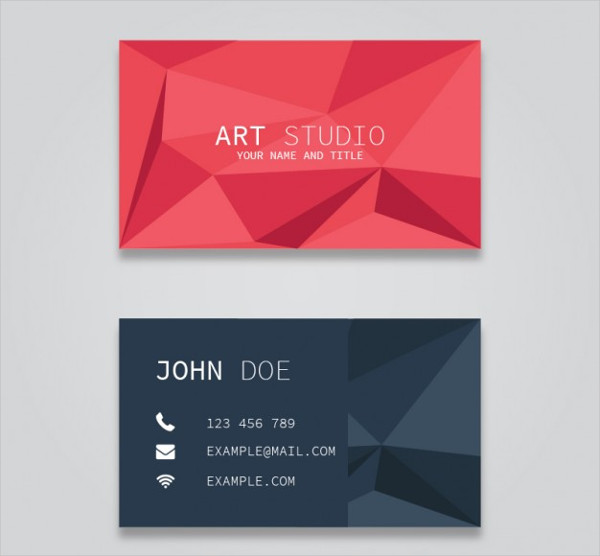 Polygonal Business Card Free Download