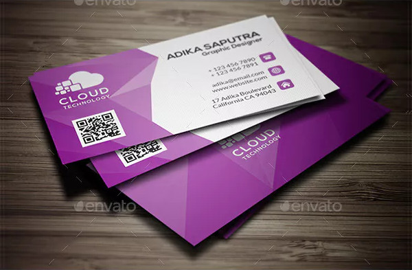 Polygonal Corporate Business Card Template