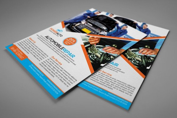Printable Automobile Repair Flyer Design