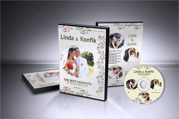 Printable Wedding DVD Cover & CD Label