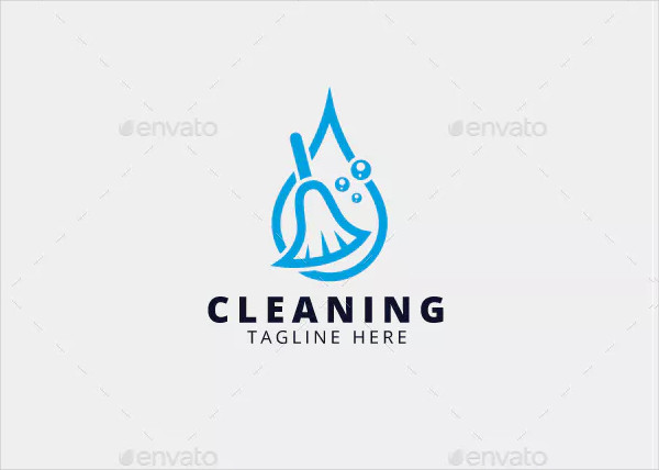 Professional Cleaning Logo Template