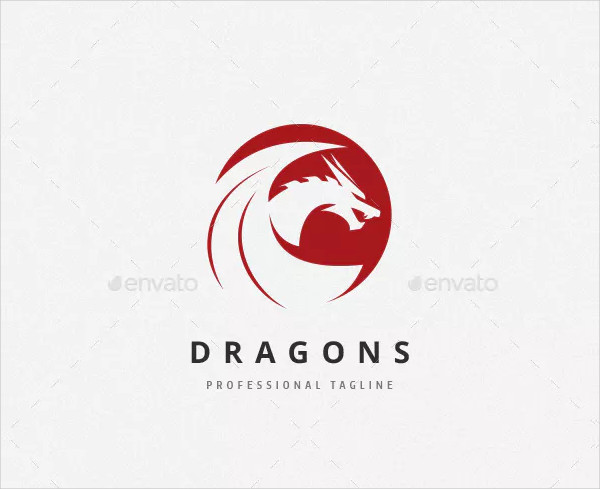 Professional Dragons Logo Template