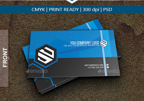 Professional Polygon Business Card Design