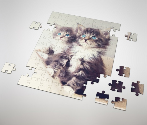 Puzzle Mockup Design Free Download
