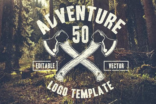 Retro Adventure Logo Template