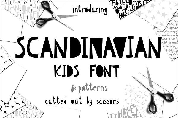 Scandinavian Fun Kids Font & Patterns