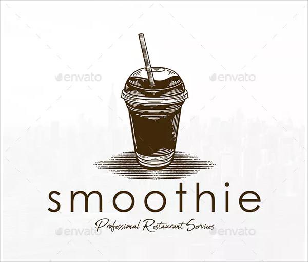 Smoothie Drink Vintage Logo Design
