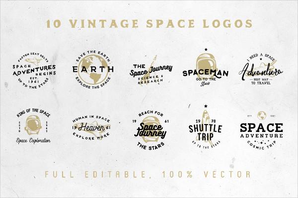 Space Vintage Logos