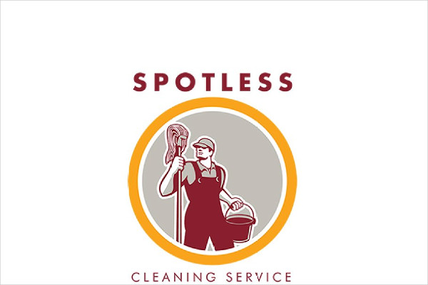 Spotless Cleaning Service Logo Template