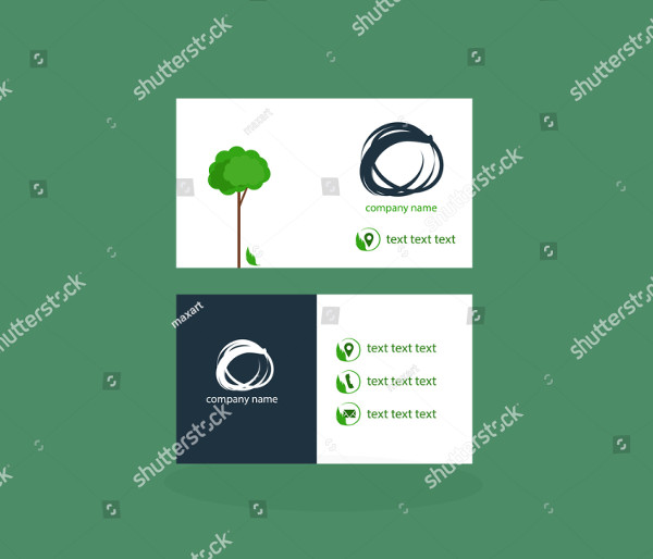 Stylish Garden Services Business Card