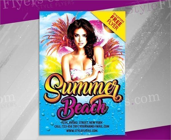 Summer Beach Free Flyer PSD Template
