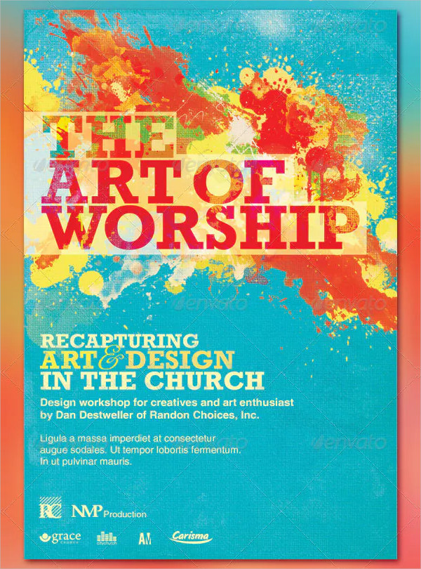The Art of Worship Flyer and CD Template