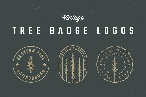 Vintage Tree Badge Logos