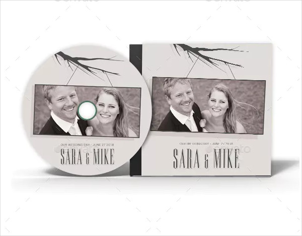 Wedding CD Cover & Disc Label Artwork