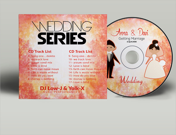 Wedding CD Covers Templates