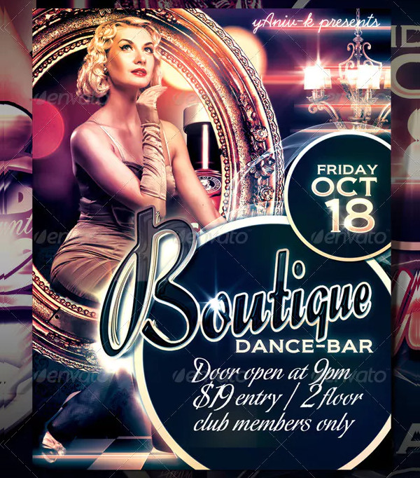 Boutique Bar Flyer Design
