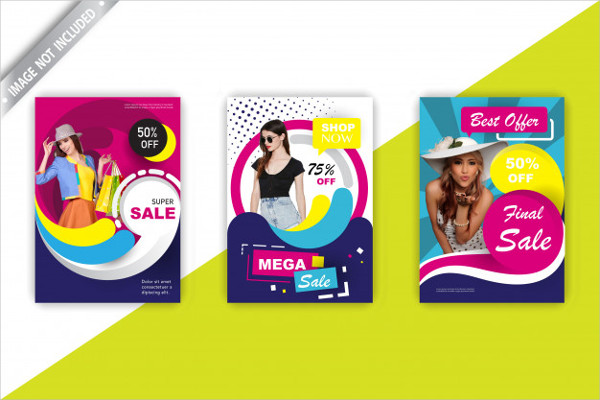 Fashion Sales Flyer Set Free Download