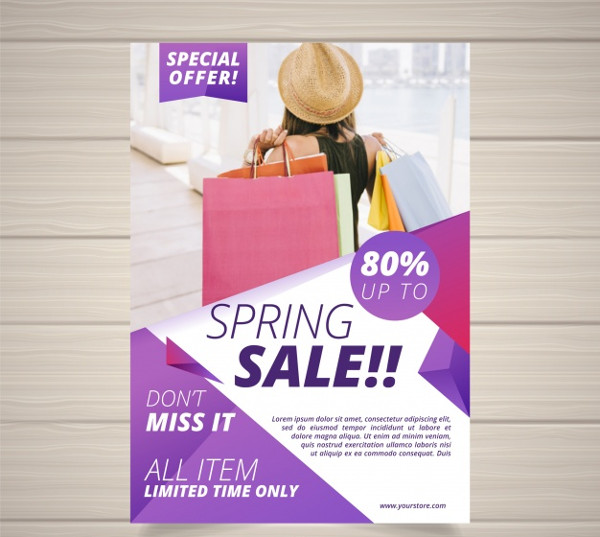 Free Spring Boutique Flyer Design