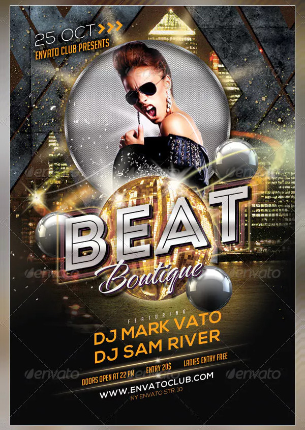Printable Beat Boutique Flyer