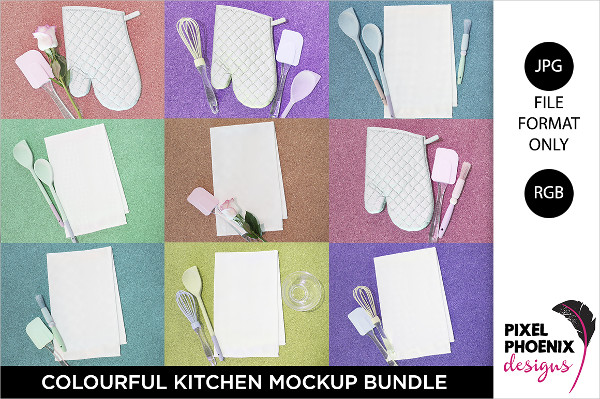 Colorful Kitchen Mockups Bundle