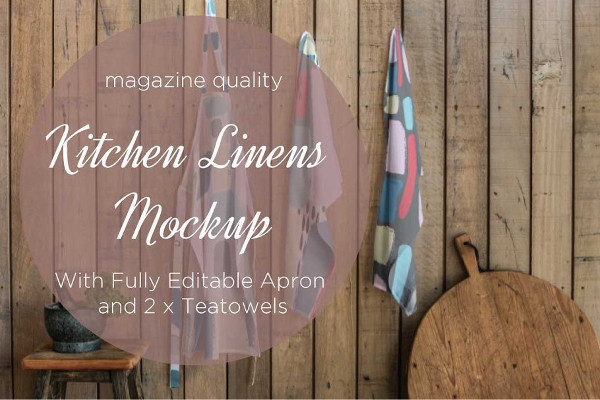 Kitchen Linen Mockup