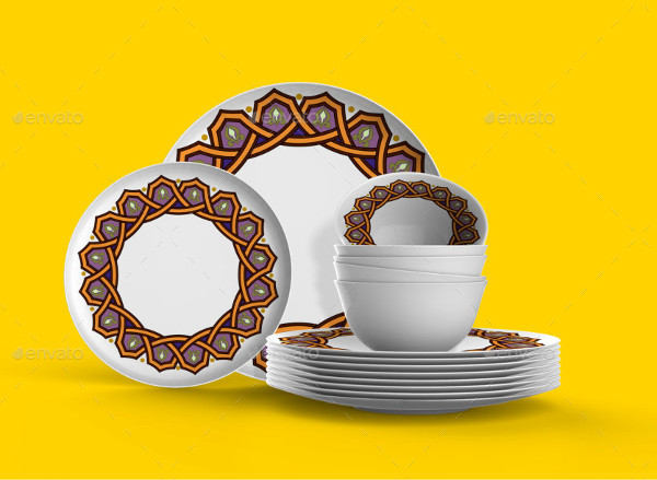 PSD Dishes Mockup