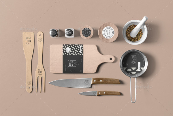 Realistic Kitchen Branding Mock-Up