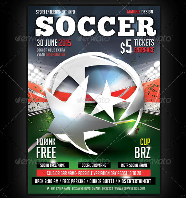 Best Soccer Champion Flyer Template