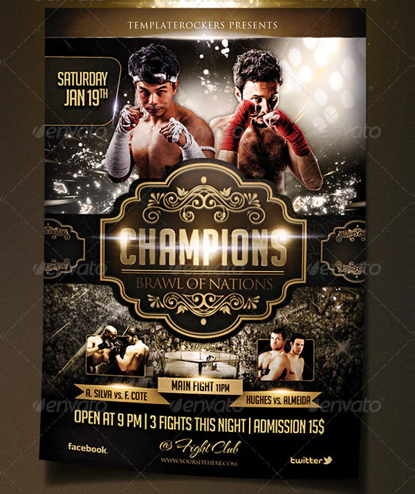 Champions Fightsport Flyer Template