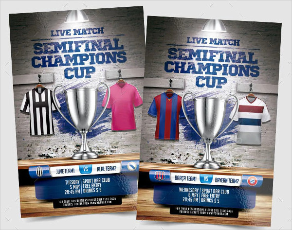Final Stages Champions Cup Flyer Design
