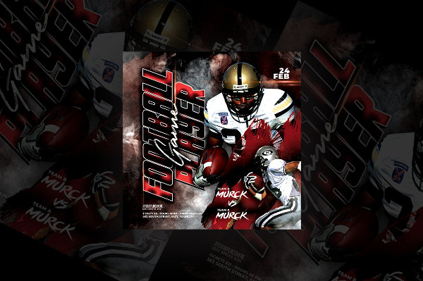 Football Game Player Flyer
