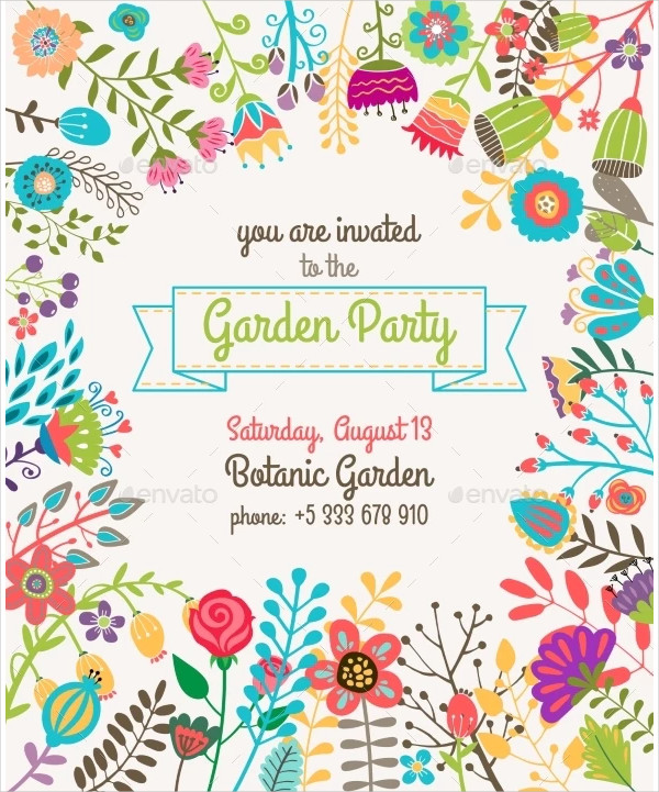 Garden Or Summer Party Invitation Template