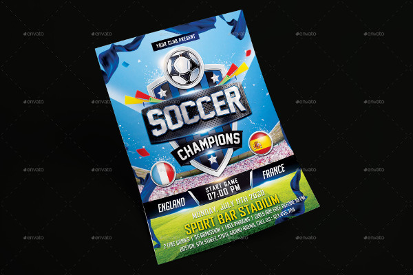 Printable Soccer Champions Flyer