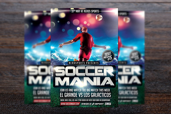 Soccer Mania Sports Flyer