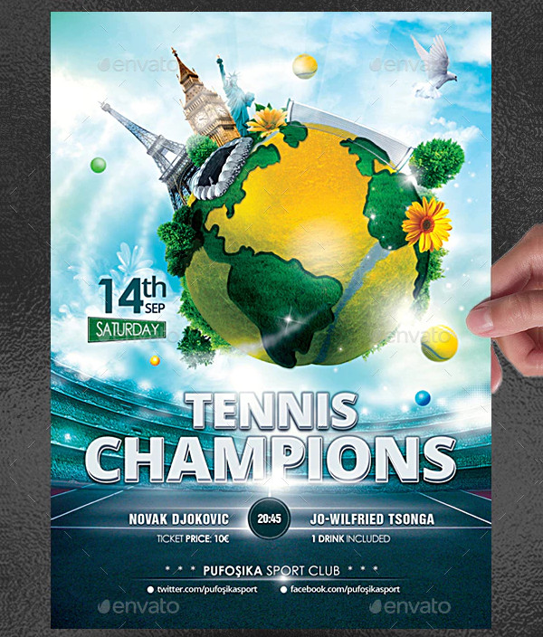 Tennis Champions Poster or Flyer