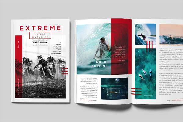 Simple Sports Magazine Template